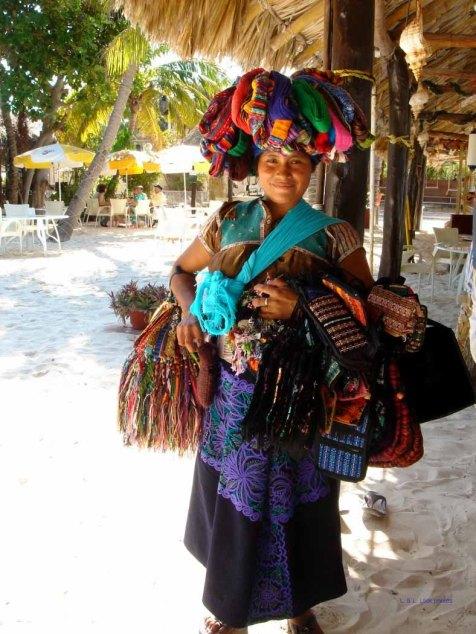 Pretty beach vendor