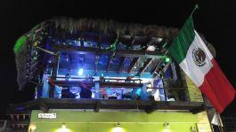 The Reef bar at night.