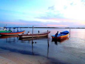 Colourful fishing pangas