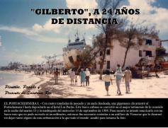 1988 September Hurricane Gilberto - ship against hotel on beach