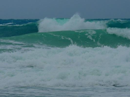 2014 January Norte blowing on Isla