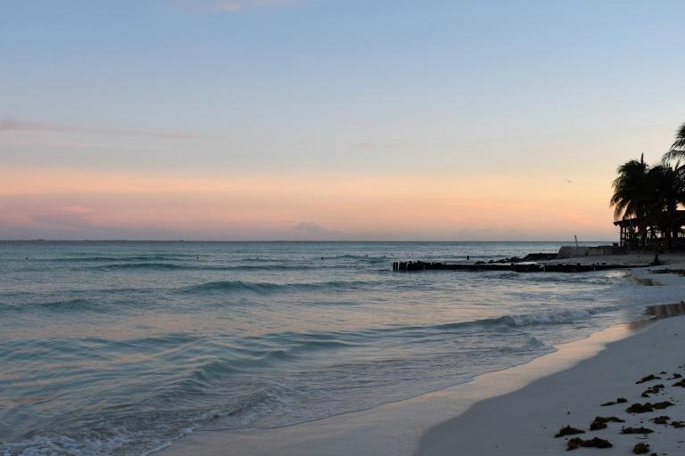 Dawn on popular beach Playa Norte